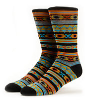 Empyre Wolfdancer Black & Grey Native Stripe Crew Socks