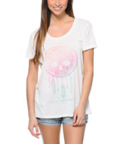 Empyre Women's Aryannah Skull Dream Cream Tee Shirt