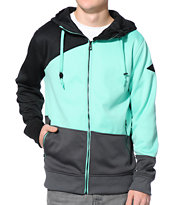 Empyre Yesteryear Black, Teal, & Grey Polar Tech Fleece Jacket