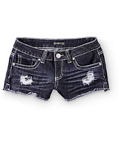 Empyre Zaya Crochet Pocket Dark Wash Denim Shorts