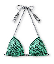 Empyre Zig Zag Tribal Mint Molded Cup Triangle Bikini Top