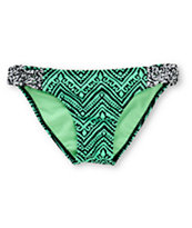 Empyre Zig Zag Tribal Mint Tab Side Bikini Bottom