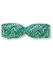 Empyre Zig Zag Tribal Print Twist Bandeau Bikini Top