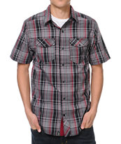 Emypre Break Bottles Black & Red Plaid Button Up Shirt