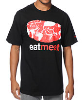 Enjoi Eat Meat Black Tee Shirt