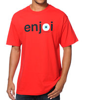 Enjoi Eyeball Red Tee Shirt