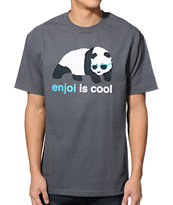 Enjoi Is Cool Charcoal Tee Shirt