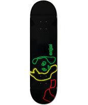 Enjoi Neon Rasta Panda 8.25 Skateboard Deck