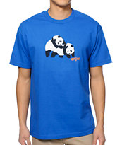 Enjoi Piggyback Pandas Royal Blue Tee Shirt
