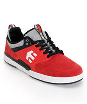 Etnies Aventa Red & Black Suede Skate Shoe