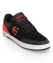Etnies Marana Black & Red Suede Skate Shoe