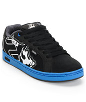 Etnies x Metal Mulisha Fader Black & Blue Skate Shoe