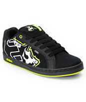 Etnies x Metal Mulisha Fader Black & Lime Skate Shoe