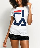 FILA White Square Logo T-Shirt