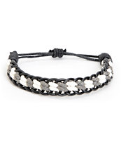 Fad Treasures Black & Grey Large Braided Bracelet