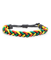 Fad Treasures Medium Rasta Braided Bracelet