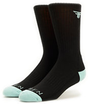Fallen Solid Black Crew Socks
