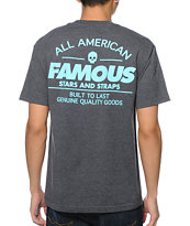 Famous Stars & Straps AM Built Fast Charcoal Tee Shirt