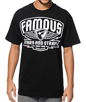 Famous Stars & Straps Brigade Patch Black T-Shirt