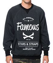 Famous Stars & Straps Built To Last Charcoal Crew Neck Sweatshirt