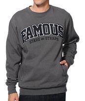 Famous Stars & Straps Bullet Proof Charcoal Crew Neck Sweatshirt