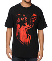 Famous Stars & Straps Drench Black & Red Tee Shirt