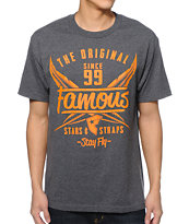 Famous Stars & Straps Flight Charcoal Tee Shirt