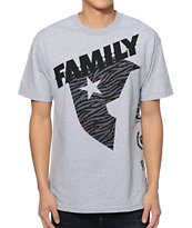 Famous Stars & Straps New Slant Heather Grey Tee Shirt