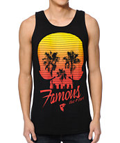Famous Stars & Straps Palm Skull Eyes Black Tank Top