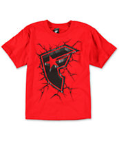 Famous Stars & Straps Stamp Rock Red Red Tee Shirt
