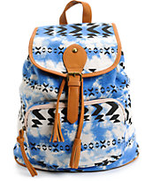 Fantasia Blue Tie Dye & Tribal Rucksack Backpack
