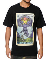 Flying Coffin Tarot Black Tee Shirt