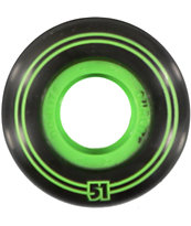 Form Dualite Black & Green 51mm Skateboard Wheels