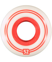 Form Dualite White & Red 52mm Skateboard Wheels