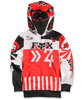 Fox Boys Anthem Face Mask Zip Up Hoodie
