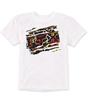 Fox Boys Chiefly White Tee Shirt