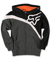 Fox Boys Riktor Black & Orange Zip Up Hoodie