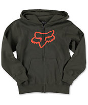 Fox Boys Tract Zip Up Hoodie