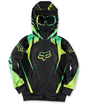 Fox Boys Vibron Black Full Zip Face Mask Hoodie