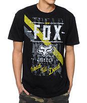 Fox Dunkel Black & Yellow Tee Shirt