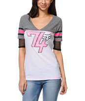 Fox Girls Perfect Pass White Football Tee Shirt