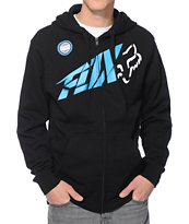 Fox Riptide Black Zip Up Hoodie