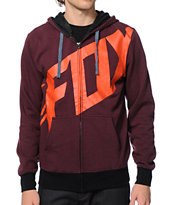 Fox Tainted Zip Up Hoodie