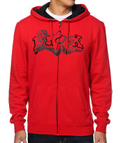 Fox Unruler Red Zip Fleece Fox
