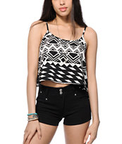 Free To Fly Lucy Tribal Crop Tank Top