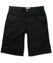 Free World Bandit Black Pinstripe Chino Shorts