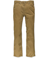 Free World Boys Messenger Dark Khaki Twill Skinny Pants