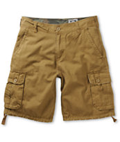 Free World Debacle Dark Khaki Cargo Shorts