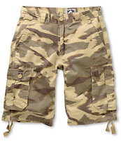 Free World Debacle Desert Camo Cargo Twill Shorts