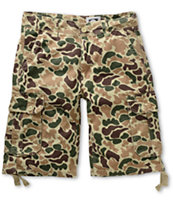 Free World Debacle Duck Camo Cargo Twill Shorts